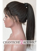 Chantiche® 5A Light Yaki Glueless Full Lace Wig Affordable Brazilian Human Hair Wigs For African American Women 150% Density Medium Size Cap Light Brown Lace Colour 60cm Natural Colour