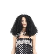 STfantasy 60cm Good Hand Feeling Medium Black Curly Afro Wig for Black Women