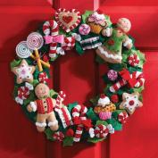 Cookies & Candy Wreath Felt Applique Kit-38cm x 38cm