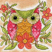 Whimsical Owl Mini Needlepoint Kit5inX5in Stitched In Thread