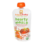Happy Baby Stage 3 Vegetable and Beef Medley Food Pouch