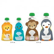 Squooshi Reusable Assorted Food Pouches