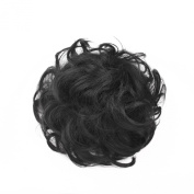 SWACC Girls Updo Messy Dish Hair Bun Synthetic Clip On Chignon Hairpiece Drawstring Ponytail Bun Hair Extensions