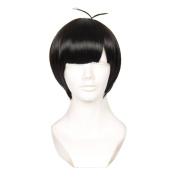 Cfalaicos Osomatsu-san Matsuno Ichimatsu Black Short Cosplay Costume Wigs