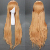 Flovex Long Straight Brown Anime Cosplay Wigs Womens Ladies Natural Sexy Sword Art Online Asuna Yuuki Costume Party Daily Hair with Wig Cap