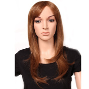 """23""""/58cm Most Popular Cheap Wig Womens Lady's Long Layered Full Head Wigs Light Brown Synthetic Hair Wig Hairpiece"""