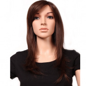 """23""""/58cm Most Popular Cheap Wig Womens Lady's Long Layered Full Head Wigs Medium Brown Synthetic Hair Wig Hairpiece"""