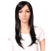 """23""""/58cm Most Popular Cheap Wig Womens Lady's Long Layered Full Head Wigs Dark Black Synthetic Hair Wig Heat Resistant"""