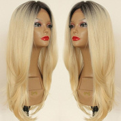 PlatinumHair ombre wave synthetic lace front wavy wigs glueless lace front wigs 60cm