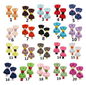 Tnian Girls' Grosgrain Ribbon Bowknot Hairpins Boutique Alligator Clips Barrettes Hair Pins Pack of 40