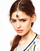 STEVE YIWU® Women Fashion Luxury Rhinestone Crystal Tassel Head Chain Jewellery Headband Hair Head Clip