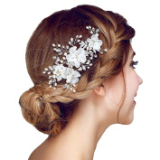 Meiysh Bridal Flower Side Hair Comb Bridal Headpiece Wedding Accessories