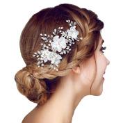 Meiysh Bridal Flower Side Hair Comb Bridal Headpiece Wedding Accessories