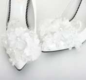 Wedding Lace Shoe Clips, Bridal Faux Pearls Shoes Clips, Wedding Lace Shoe Clips