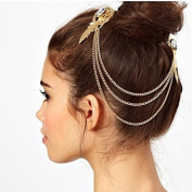 STEVE YIWU® 1920s Chain Grecian Vintage Retro Tassel Hair Clip Head Band Wings Chain Downton Fringes Crystal