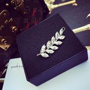 STEVE YIWU® Exquisite Rhinestone Diamonds Leaf Hair Clip Bridal Wedding Hair Accessories