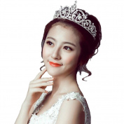 STEVE YIWU® Baroque Princess Crown Tiara Bridal Wedding Rhinestone Crystal Headband Hair Accessories