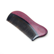 Angela Star Natural Sandalwood Horn Comb Mini Compact Beard Comb Pocket Hair Comb Without handle