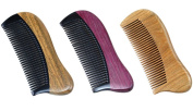 Angela Star 3-piece Natural Sandalwood Horn Comb Mini Compact Beard Comb Pocket Hair Comb Without handle