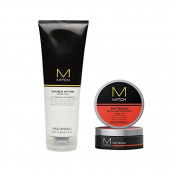 Paul Mitchell Men Mitch Double Hitter Sulphate Free 2-in-1 Shampoo and Conditioner + FREE Mitch Matterial