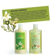 MYTH Organic Moringa Anti-Pollution Shampoo & Conditioner Set - 99% Natural Origin, Net wt. 250 ml./8.5 fl.oz.