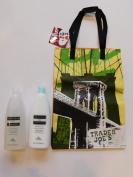 Trader Joe's Nourish Spa Balance Moisturising Conditioner And Shampoo And NY Reusable Shopping Bag