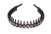 YESHINE Rhinestone and Crystal Teeth Comb Plastic Hairband Hair Hoop Headband for Women,Multicolor