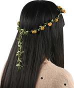 MyMei® Hippie Love Flower Garland Crown Festival Wedding Hair Wreath BOHO Floral Headband
