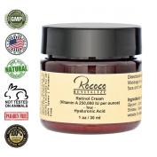 Retinol Cream (Vitamin A 250,000 IU per ounce) with Hyaluronic Acid - 30ml