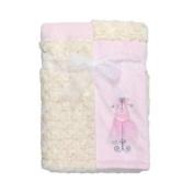 Kyle & Deena Rosette Velboa Plush Blanket, baby girl, 80cm x 80cm