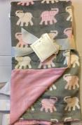 Cosy Baby Bazaar Elephant Baby Decorative Throw 80cm x 100cm