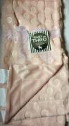 Baby Thro Hot Polka Dot Faux Fur Decorative Baby Throw 80cm x 100cm