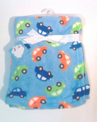 Snugly Baby Boys Fleece Blanket w/Multicolor Cars 80cm x 80cm .