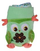 Premium Soft Green Roll Up Owl Child's Blanket