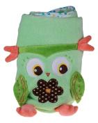 Premium Soft Green Roll Up Owl Child's Blanket