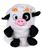 Premium Soft White Toddler's Blanket with Cow Design