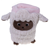 Premium Pretty Pink Toddler's Blanket with Soft Woolly Sheep Design