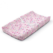 Pink Polka Dot Ultra Plush Changing Pad Cover