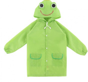DREAMY Kids Children's Portable Rain Poncho Cloth Hoods and Sleeves Raincoat