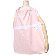 ESMERALDA Nursing Cape Pink White Ribbon [Made in Japan]