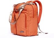 Nappy Bag Travel Backpack Shoulder Bag with Baby Changing Pad - Orange