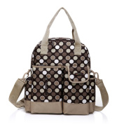 CLD 7Colors Women's Nappy Nappy Bag Backpack Size M Dots