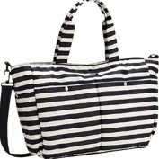 Landuo Black & White Mutifunctional Large Stripe Nappy Bags For Women in Luggage and Travel Gear