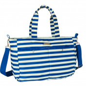 Landuo Blue & White Mutifunctional Large Stripe Nappy Bags For Women in Luggage and Travel Gear