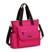 Mengma New arrival multifunctional solid colour Washed nylon nappy bag large capacity messenger bag mommy bag 5Colors