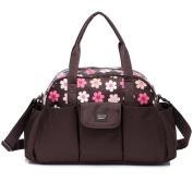 Mengma Waterproof Nylon Nappy Tote Hobos Baby Nursing Messenger Bag Mothers Sorting Bag Travel Bag Zipper Closure Green