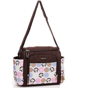 Mengma Large Pink Monkey Flower Printing Waterproof Nappy Bag Maternity Nursing Baby Bag Mothers Insulating Shoulder Bag