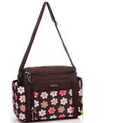 Mengma Flower Pattern Large Capacity Flower Printing Waterproof Nappy Bag Maternity Nursing Baby Bag Mothers Insulating Shoulder Bag