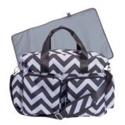 Baby Chevron Black and Grey Nappy Bag