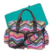 Chic Style Multicoloured Chevron Nappy Bag